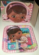 16 Disney Doc Mcstuffins Birthday Party 9 Square Lunch Paper Plates, 1 Banner