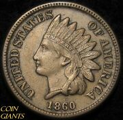 1860 Indian Head Cent Au About Uncirculated Philadelphia Mint Rare 1c Type Coin