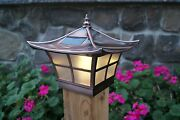 4x4 Copper Electroplated Ambience Solar Post Cap Led Deck Fence Lights 12 Pack