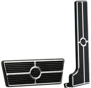 Billet Specialties Black Anodized Pedal Kit,gas And Brake Pedals,58-67 Automatic