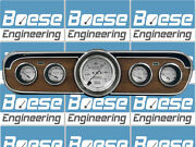 65 66 Mustang Billet Aluminum Adapter Panels W/ Auto Meter Old Tyme White Gauges
