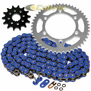 Blue O-ring Drive Chain And Sprockets Kit For Yamaha Yz426f 2000-02 Yz450f 03 04