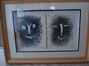 Pablo Picassodust Jacketfront And Back Cover Lithograph Iv Book.1964framed
