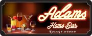 Custom Home Bar Sign With Neon Lights Effect Wine Lovers Beer Lovers Man Cave