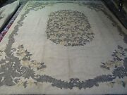 Vintage Shabby Priscilla Turner Guild Wool Looped Hand Hooked Rug 10and0396 X 15and039
