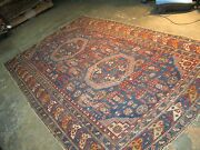 Antique Caucasian Shirvan Hand Knotted Wool Gallery Long Rug 5and039-5 X 10and039-0