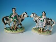 Pair Staffordshire Royal Children With St. Bernards Matched
