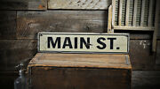 Rustic Old Style Street Sign - Rustic Hand Made Distressed Wood