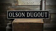 Custom Family Baseball Dugout Sign - Rustic Hand Made Distressed Wood