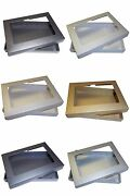 Pearlescent A6 Aperture Greeting Card Boxes Wedding. Choose Colour And Quantity