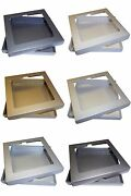 Pearlescent 5x5 Aperture Greeting Card Boxes Wedding Choose Colour And Quantity