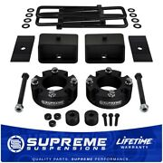 3 Front + 3 Rear Lift Kit + Diff Drop Shims For 2007-2020 Toyota Tundra