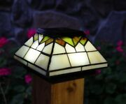 12 Pack Wellington Solar Post Cap Led Deck Fence Lights Stained Glass 5x5 And 4x4
