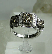 Hsn-justine Simmons Brown Sugar Diamonds 925 Sterling Silver Ring Sz 5-new