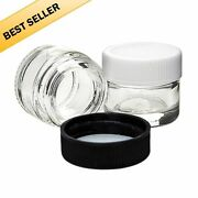Qty 5ml Glass Concentrate Screw Top Jars Medicine Lid Balm Makeup Oil Containers