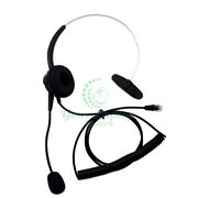 T400 Headset For Allworx 9212 And Avaya 2410 4620 And 5420 Black Fast Free Shipping
