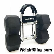 Weightsling -safely Carry Multiple Weights In One Hand Weight Holder Dumbbells