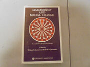 Leadership And Social Change By William R. Lassey And Richar R. Fernandez 1976