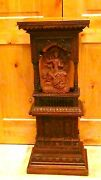 Antique 18c-19c Asiachinese Intricate Wood Carved Large Shrine Cabinetaltar