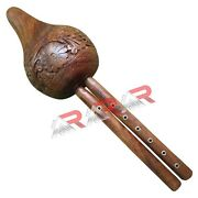 Snake Charmer Bean Brand Aar Rosewood Engraved Flute Two Reed Set In Canes