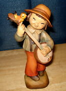 Anri Wood Carving Ferrandiz Boy With Folk Guitar Limited Edition Happy Strummer