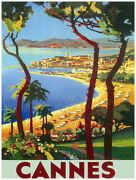 Quality Poster.visit Cannes French Riviera.travel Shop Wall Design Art.v1786