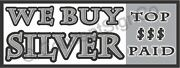 1.5'x4' We Buy Silver Banner Sign Top Dollar Paid Rare Jewelry Coins Gold Cash