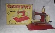 Vintage - Junior Model Np-1 Toy Sewing Machine - With Box - By Gateway -1940's
