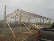 6- 50 Foot Steel Trusses Clear Span Agricultural Building Pole Barn Arena