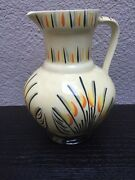 Vintage Collectible Art Deco Myott And Son Hand Painted Jug