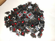 100 Units--red Rocker/toggle Switches-illuminated--10/15 Amp = 30 Cents Each
