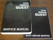 1999 Nissan Quest Service Repair And Body Shop Manual Factory Oem Book