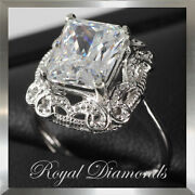 3.50ct 10x8mm Radiant Forever Brilliant Moissanite By Created And Charles 14k Ring