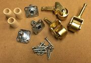 New Set Of 3 Brass Grand/baby Grand Piano Casters 1 3/8 Wheel