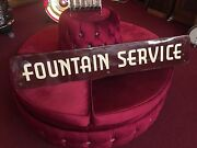 Porcelain Advertising Sign Fountain Service Large 63  Watch Video