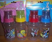New Looney Tunes 2pk 11oz. Wide Kneck Bottles, Bugs Bunny, Tweety, Or Sylvester