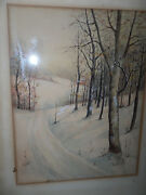 Vintage 1938 Wpa Era Art Painting Signed And Dated Gorgeous Watercolor