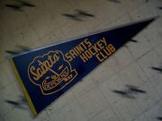 Vintage Depew Saints Hockey Pennant From The 1970's-1980's Buffalo Sabres Big