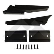 1997-2006 Jeep Wrangler And Unlimited Tailgate Hinges Kit In Matte Black