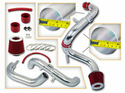 3 Red Jdm Cold Air Intake + Filter For 06-11 Civic Ex/lx/dx/gx/sport 1.8l L4