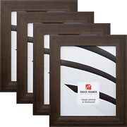 Craig Frames Rustic 1.5 Driftwood Weathered Black Wood Picture Frame 4-pack