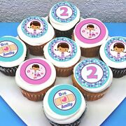 Doc Mcstuffins Edible Icing Cupcake Toppers - 2 - Pre-cut - Sheet Of 15