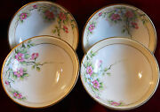 Vintage Noritake China 4 Antique Bowls With Roses And Gold Trim Dating Around 1911