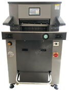 490mm 19.3 Hydraulic Paper Guillotine Cutter Programmable 7 Touch Screen Heavy