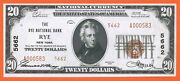 Rare Rye National Bank New York Fr-1802 Ty-2 Ch Unc 64 20 1929 Currency Ny