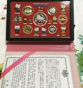 Hello Kitty Proof Coins Set 2004 Born 30th Anniversary Made In Japan Silver