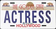 Steve Kaufman Actress License Plate Original Signed And Numbered Oil Painting