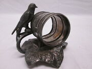 Roger Smith Co Meriden Ct Silver Plate Napkin Ring 20 Bird Large Leaf
