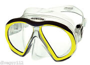 Atomic Subframe Dive Mask For Freediving Scuba Snorkeling Clear/yellow