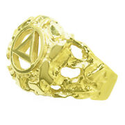 Aa Alcoholics Anonymous, Vintage Nugget Ring, 96 Size 10.5/11.5 14k
